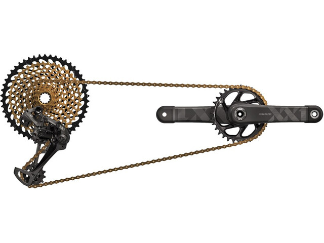 SRAM XX1 Eagle - Piezas para bicicletas - 1x12 DUB 34Z. 170mm negro